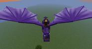 Flying purple dragon