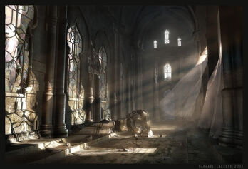 Dawn on the Ancient Hall by Raphael Lacoste