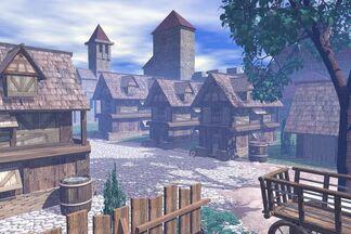 3D Bryce 5 medieval town by Sedeslav