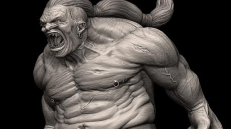 File:R169 457x256 2786 Screaming Giant 3d fantasy monster picture image digital art.jpg