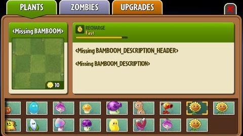 Bamboom - Beta Big Wave Beach Plant - Plants vs. Zombies 2