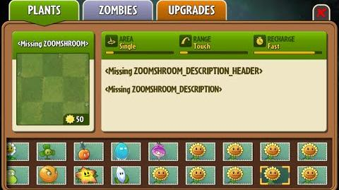 Zoom-shroom - Scrapped Dark Ages Plant - Plants Vs. Zombies 2 It's About Time