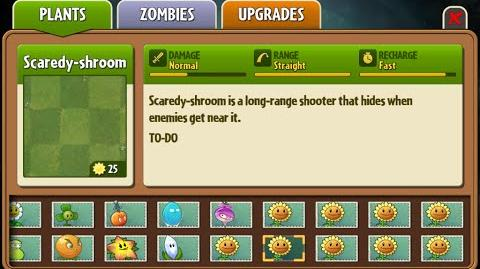 Scaredy-shroom - Scrapped Dark Ages Plant - Plants Vs. Zombies 2 It's About Time
