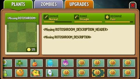 Roto-shroom - Scrapped Dark Ages Plant - Plants Vs. Zombies 2 It's About Time