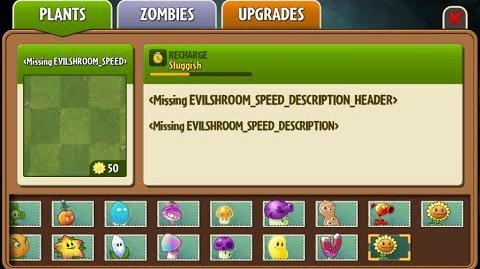 Evil-shroom Speed - Scrapped Dark Ages Plants - Plants vs. Zombies 2