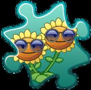 Twin Sunflower Costume Puzzle Piece