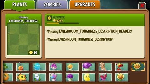 Evil-shroom Toughness - Scrapped Dark Ages Plant - Plants vs. Zombies 2