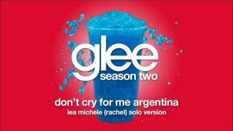 Don't Cry For Me Argentina (Rachel Solo Version) Glee HD FULL STUDIO