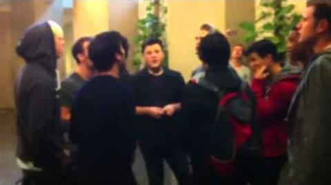 Darren Criss & The Warblers Rehearse