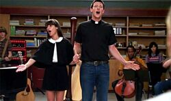 Finn and Rachel in with you i'm born again