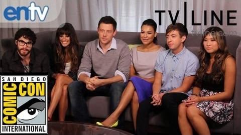 """Glee"" Cast at Comic-Con Lea Michele, Darren Criss' Beard, Season 4 Teasers & More"