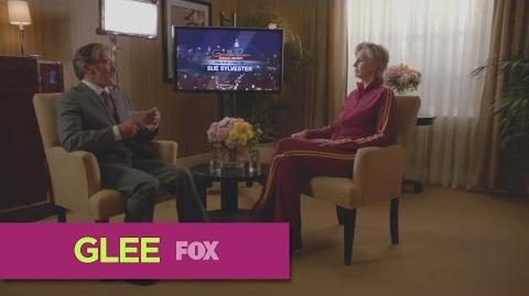 "GLEE Geraldo Rivera Interviews Sue from ""The Rise and Fall of Sue Sylvester"""