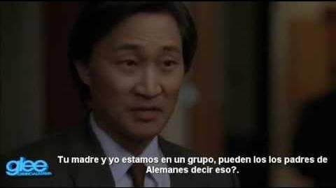"GLEE - Deleted Scene 3x22 ""Goodbye"" - ""Mike Chang's Gift From His Parents"" Subtitulos en Español"