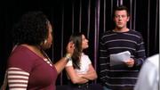 Mercedes, Finn y Rachel en Pilot