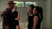 Kurt, Burt, Tina y Brittany en Preggers