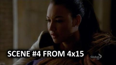 "Glee - Rachel and Santana (Pezberry) Scene 4 From 4x15 ""Girls (and Boys) on Film"""