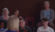 6x03 Brittany, Santana, Darrell & New Directions watching Becky So Far Away