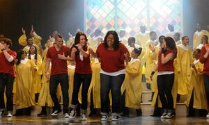 20110610175848!Glee Cast Singing Like a Prayer
