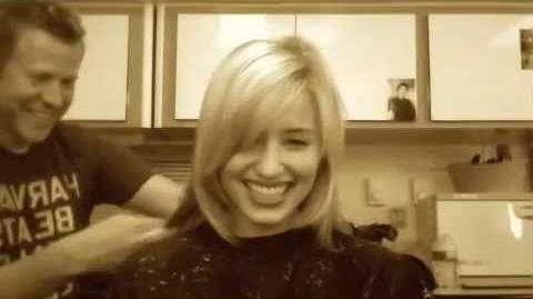 Glee - Dianna Agron Cuts Seven Inches of Her Hair Off