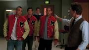 Puck, Mike, Finn, Matt y Will en Preggers