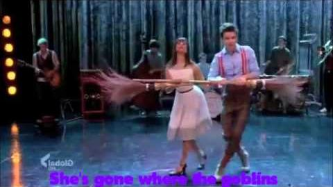 Glee - Ding Dong! The Witch is dead with Lyrics on screen