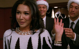 Glee-Naya-Rivera-Santana-Santa-Baby-Christmas