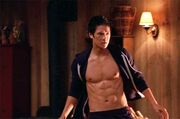 Glee S02E01 Mike Chang abs