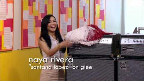 Naya Rivera Guest Mentors on the Glee Project!