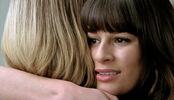 Quinn y Rachel en el baño