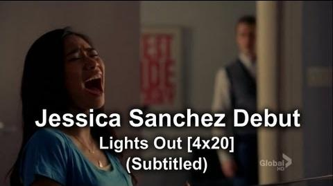 Glee - Jessica Sanchez as Frida Romero Debut Lights Out (Subtitled) HQ-0