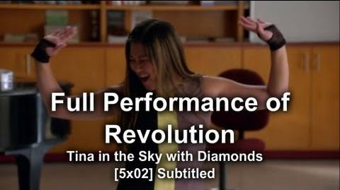 "Glee - Full Performance of ""Revolution"" Tina In The Sky With Diamonds (Subtitled) HQ"