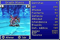 Estadisticas Dragon Blanco