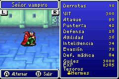 Estadisticas Señor Vampiro