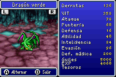 Estadisticas Dragon Verde