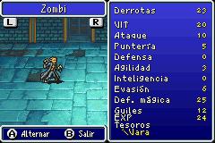 Estadisticas Zombi