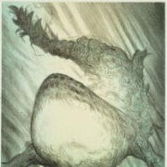 Una imagen lateral de Sinh dibujada por <a href=
