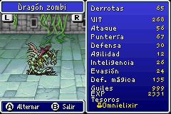 Estadisticas Dragon Zombi