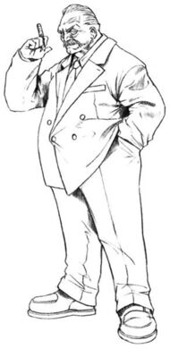 Presidente Shinra Ilustracion FFVII