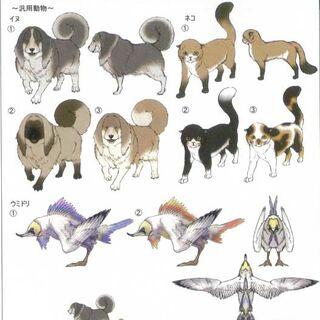 Imagen artística de los animales del Nido
