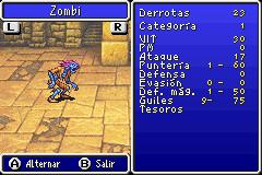 Estadisticas Zombi II