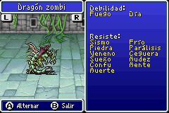 Estadisticas Dragon Zombi 2