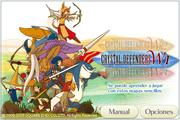 Pantalla de Titulo de Crystal Defenders en Ipod Touch