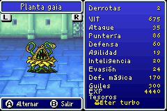 Estadisticas Planta Gaia
