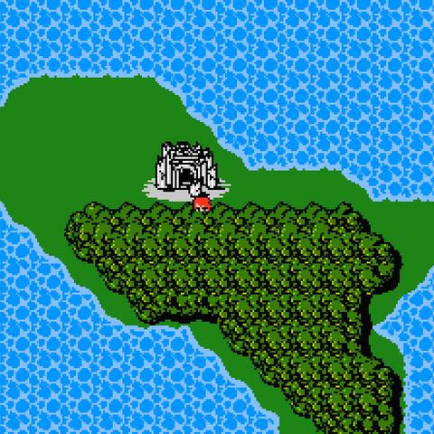 El Templo del Caos en el Mapamundi (NES)