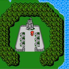 <center><small>Cornelia en el Mapamundi (NES)</small> </center>