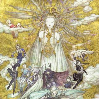 Ilustración de Cosmos junto a sus Guerreros por Amano