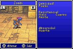 Estadisticas Zombi II 2
