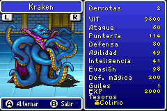 Estadisticas Kraken 3