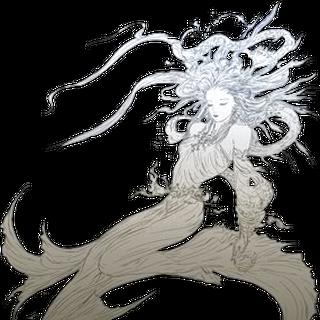 Ilustración de Cosmos por Yoshitaka Amano en <i>Dissidia 012</i>
