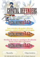 Crystal Defenders Menu iPhone